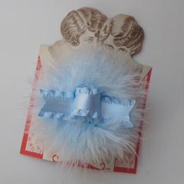 Puff hair clip(ブルー×ブルー)