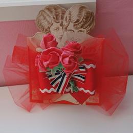 Paper bouquet brooch