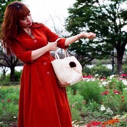 Bebe bow tote bag(シャンパンゴールド)