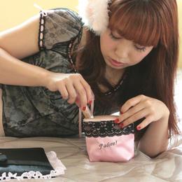 Satin mini vanity pouch