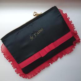 Satin Lingerie bag(レッド)