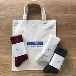 <GIFT SET> WOOL RIB SOCKS