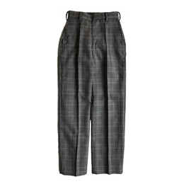WOOL GLEN CHECK TROUSERS