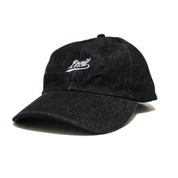 Denim Cursive Cap [Black]