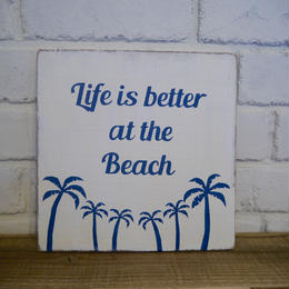 wood board A 〜Life is better at the beach〜