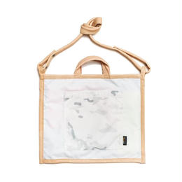 LIFE WITH DOG SHOP 2way Bag for Walking (White×Navy)