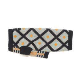 Ware Of The Dog  CONTRAST PATTERN JACQUARD BLACK/GREY/TURQUOISE