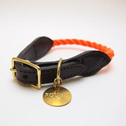 Found My Animal  ORANGE ROPE RESCUE DOG COLLAR