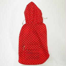 Ware Of The Dog POLKA DOT ANORAK RAINCOAT RED/WHITE  SIZE 3,4