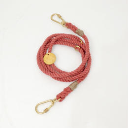 Found My Animal ADJUSTABLE ROPE LEASH(up-cycle/Rust)