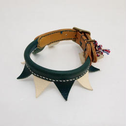 ikoyan for doggy/Garland Collar FLAG (NVY×WHT) サイズ M