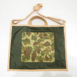 LIFE WITH DOG SHOP 2way Bag for Walking Size L (Khaki×Navy)