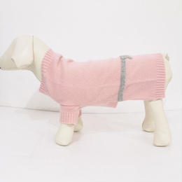 Ware Of The Dog BOW SWEATER PINK/GREY
