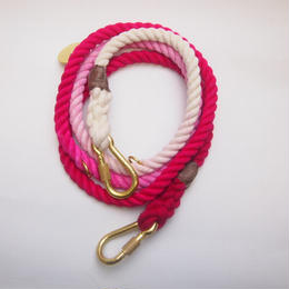 Found My Animal MAGENTA OMBRE ROPE DOG LEASH, ADJUSTABLE new model