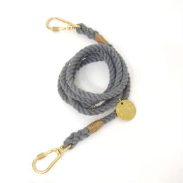 Found My Animal ADJUSTABLE ROPE LEASH(up-cycle/gray)