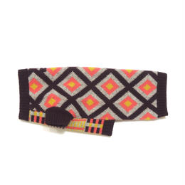 Ware Of The Dog CONTRAST PATTERN JACQUARD BURGURGUNDY/GREY/PINK