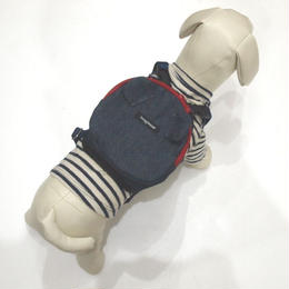 wag wear Denim Mini Dog Backpack SIZE S