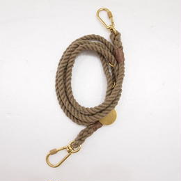 Found My Animal ADJUSTABLE ROPE LEASH(DARK TAN)