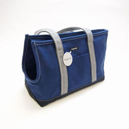 Wagwear Tri-Color Boat Canvas Carrier NAVY/BLACK/GREY Size S
