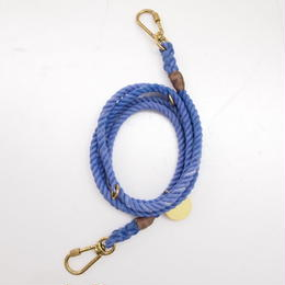 Found My Animal ADJUSTABLE ROPE LEASH(PERIWINKLE)