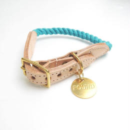 Found My Animal Rope Cat&Dog Collar(Teal/up-cycled)