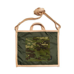 LIFE WITH DOG SHOP 2way Bag for Walking (Khaki×Navy)