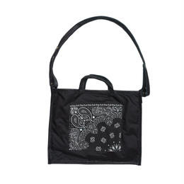 LIFE WITH DOG SHOP 2way Bag for Walking Size L (Black×Black)