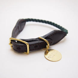 Found My Animal HUNTER GREEN ROPE DOG COLLAR