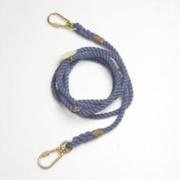 Found My Animal ADJUSTABLE ROPE LEASH(up-cycle/Blue Jean)