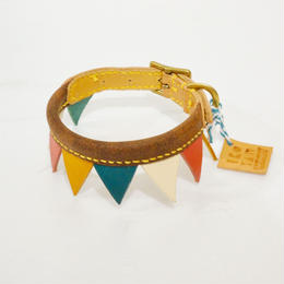 ikoyan for doggy/Garland Collar FLAG (MULTI) サイズS