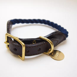 Found My Animal NAVY ROPE DOG COLLAR