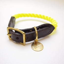 Found My Animal NEON YELLOW ROPE DOG COLLAR