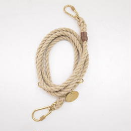 Found My Animal ADJUSTABLE ROPE DOG LEASH(LIGHT TAN)