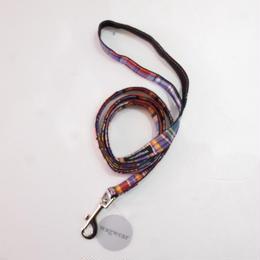 Wagwear Madras leash  purple