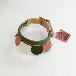 ikoyan for doggy/Garland Collar FLOWER (GRN×PINK×WHT) サイズ S