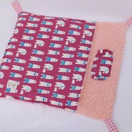 【オーダー】しろくまピンク☆冬用布団ハンモックLサイズ・冬用寝袋Lサイズ・介護用ベッドLサイズ