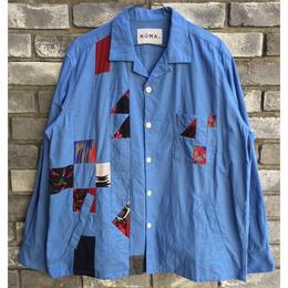 【NOMA t.d.】Quilt Stitch Blouson ノーマ パッチワーク シャツ