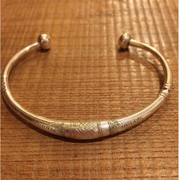 【TUAREG SILVER】Ellipse Thick bangle #A15