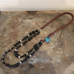 【MOON DANCER LEATHER For LILY】 Double Necklace ダブル ネックレス