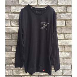 【MNKR】 Black Scraps long sleeve Tee