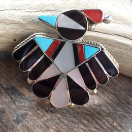 【Zuni】inlay bird pins  タイプA