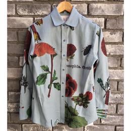 【dahl'ia】Original Flower Textile Western shirt