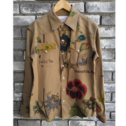 【dahl'ia × LILY】Original Flower Textile Western shirt for LILY