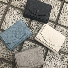 Cow leather compact wallet