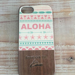 iphone case ラバー【aloha】Red