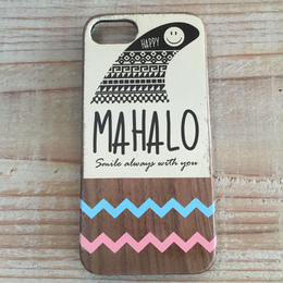 iphone case ラバー【mahalo】blueXpink