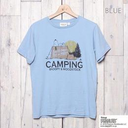 SNOOPY キャンププリントTシャツ  (BLUE)