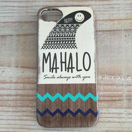 iphone case ラバー【mahalo】turquoise blueXnavy