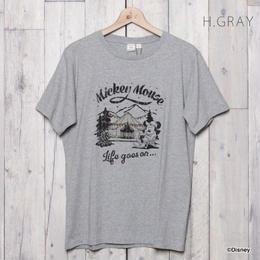 MICKY キャンププリントTシャツ  (H/GRAY)