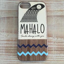 iphone case ラバー【mahalo】navyXblue